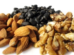 Healthy diet plan, beans, nuts, seeds grains