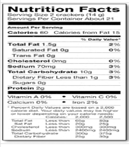 nutrition facts-2